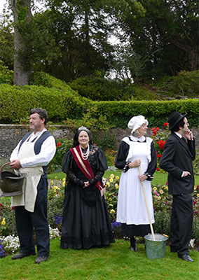 Staff of old at Muckross House