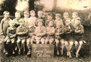 Pupils from the Two Mile School